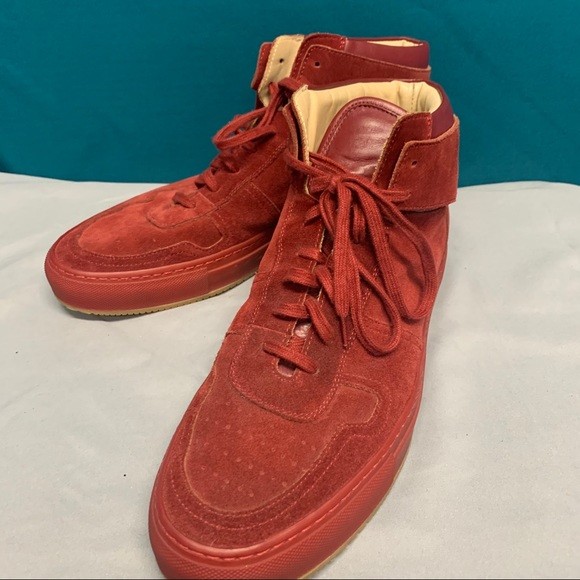 Common Projects Shoes   Red Suede